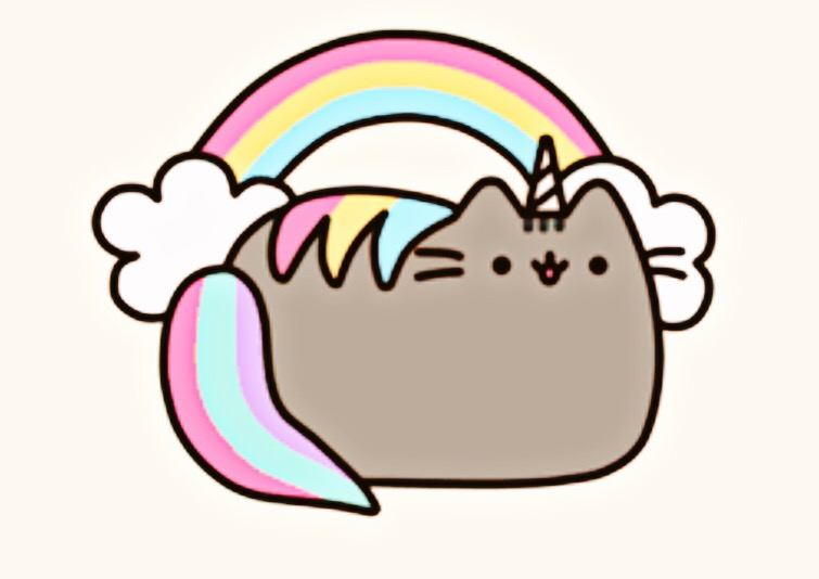 pusheen magical unicorn hehe meow pizza vector png pizza vector icon