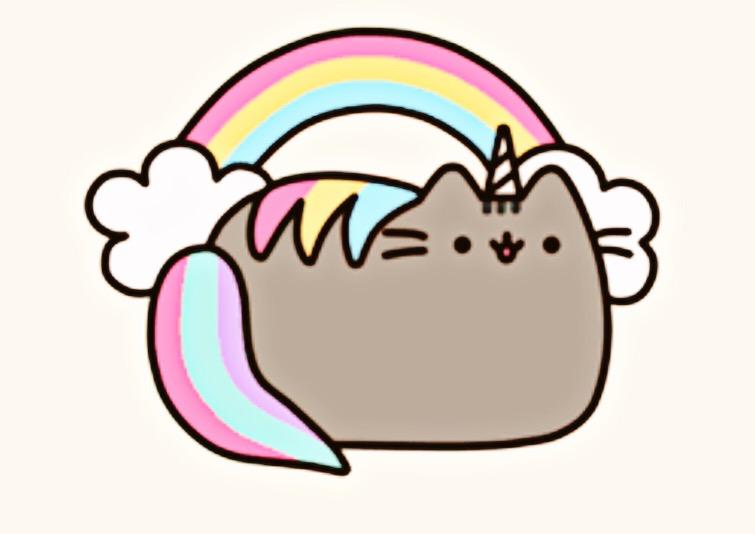 pusheen magical unicorn hehe meow funny kitty clipart funny cat clip art free