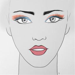 freetoedit makeup makeupdigital drawing schetch