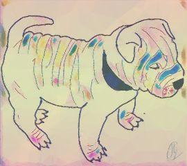 freetoedit bulldog dog remix