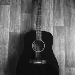 photography gitar hobby blackandwhite freetoedit