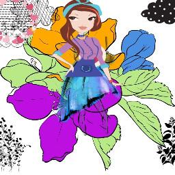 freetoedit girly girlinflowers