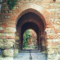 spain andalucia malaga alcazaba arabic castel calm