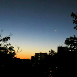 wppsky sky sunrise crescentmoon moon