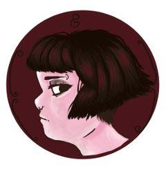 art drawing digital girl pink