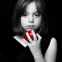 baby cute black apple red