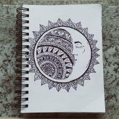 moon sun drawing my drawingart
