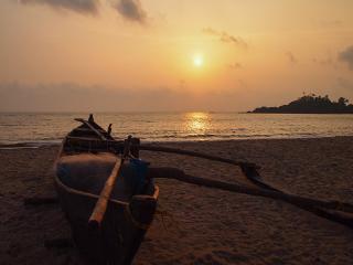 sunset beach patnem goa india