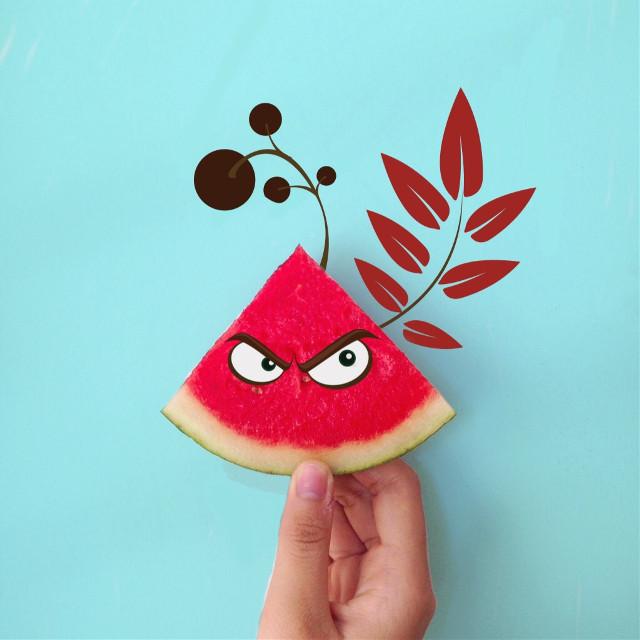 Like angry bird,right? 😄#FreeToEdit #edited #art #angrybird