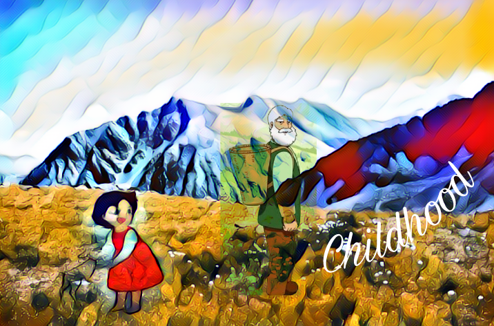 #cartoon#edited#heidi#mountain#mychildhood