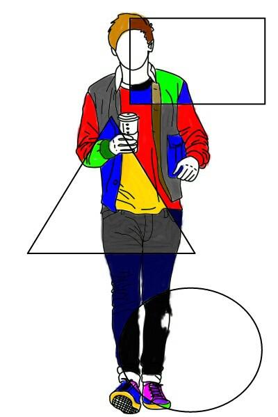 #Homem #man #roupa #multicolor  #draw #desenho #camisa #coloridas  #blusa #cores  #cor   #formas #geometricas #triangulo #circulo #quadrado # #FreeToEdit