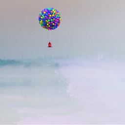 freetoedit balloons water lake ocean