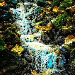 colorfull fall water