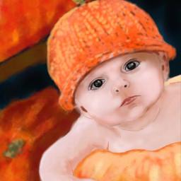 wdppumpkin drawing baby cute