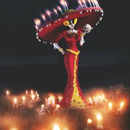 diadelosmuertos light skulls candles passion