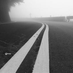 road blackandwhite