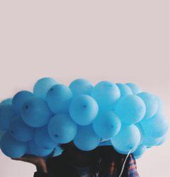 freetoedit antiselfie balloons blue dpcballoon