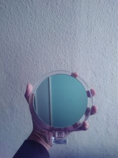 pov stilllife hand mirror illusion freetoedit